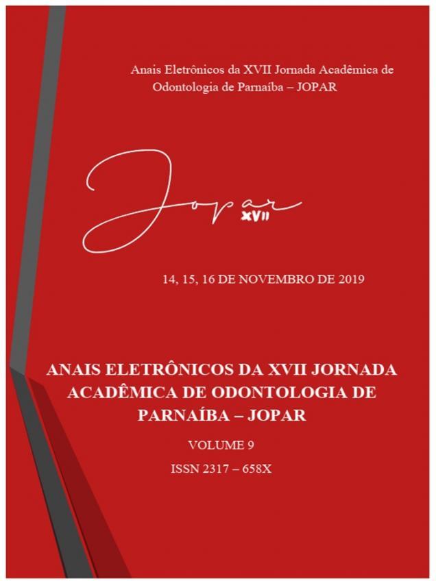 Capa para Anais Eletrônicos da XVII Jornada Acadêmica de Odontologia de Parnaíba - JOPAR 2019
