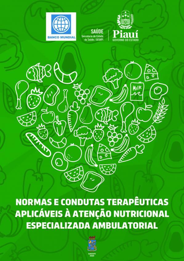 Capa para Normas e Condutas Terapêuticas Aplicáveis à Atenção Nutricional Especializada Ambulatorial