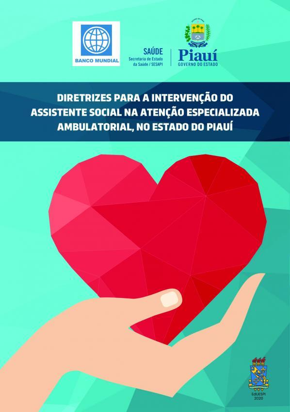 Capa para Diretrizes para intervenção do assistente social na atenção especializada ambulatorial no estado do Piauí