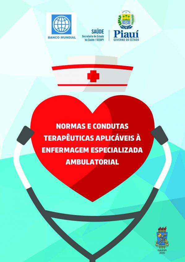 Capa para Normas e Condutas Terapêuticas Aplicáveis à Enfermagem Especializada Ambulatorial