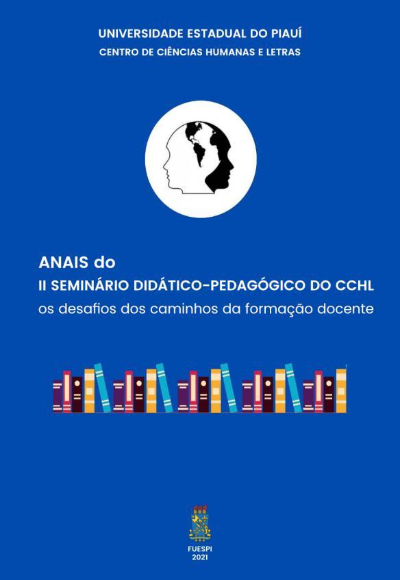 Capa para Anais do II Seminário Didático-Pedagógico do CCHL: os desafios dos caminhos da formação docente