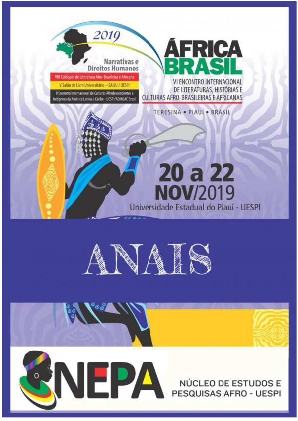 Capa para Anais do VI Encontro Internacional de Literaturas, Histórias e Culturas Afro-Brasileiras e Africanas: narrativas e direitos humanos