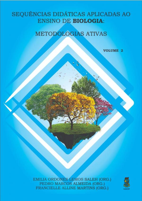 Capa para Sequências Didáticas Aplicadas ao Ensino de Biologia: Metodologias Ativas (volume 2)