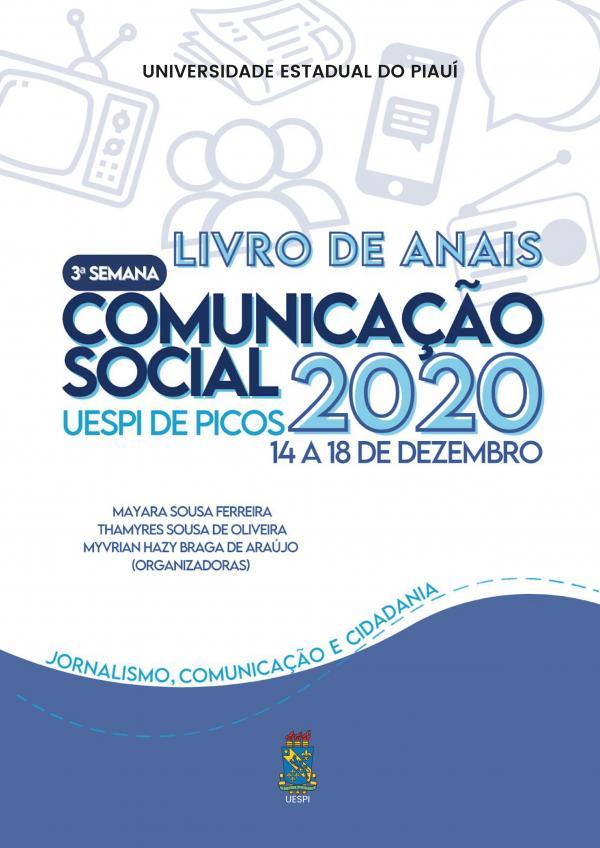 Capa para Anais da III Semana de Comunicação Social da UESPI de Picos: jornalismo, educação e cidadania