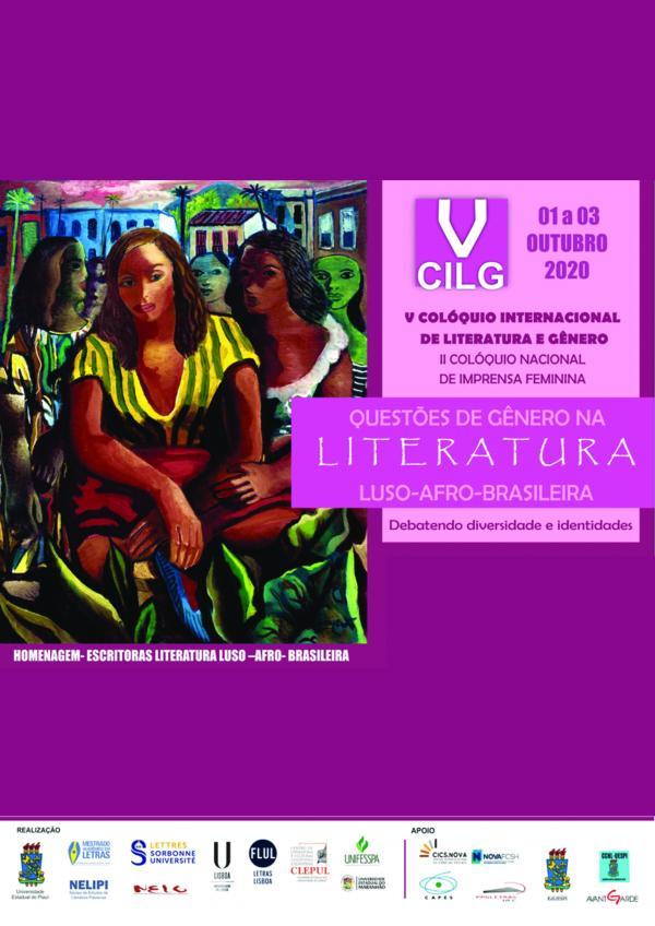Capa para Anais do V Colóquio Internacional de Literatura e Gênero: questões de gênero na literatura luso-afro-brasileira / II Colóquio Nacional de Imprensa Feminina: debatendo diversidade e identidades