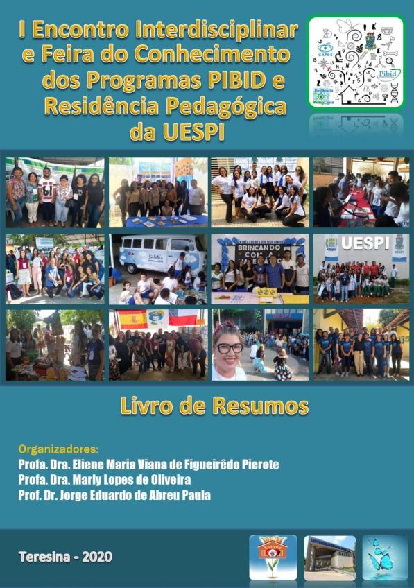 Capa para Livro de resumos do I Encontro Interdisciplinar e Feira do Conhecimento dos Programas PIBID e Residência Pedagógica da UESPI