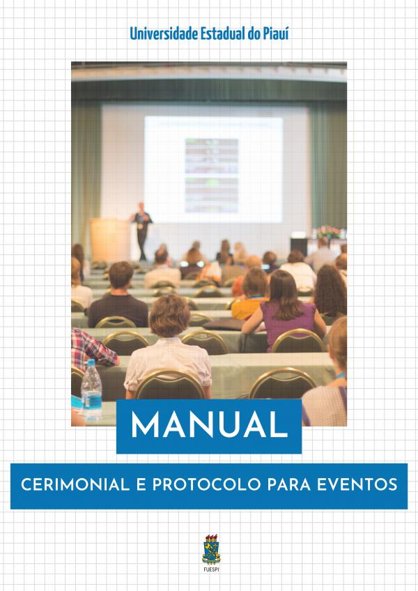 Capa para Manual: Cerimonial e protocolo para eventos da UESPI