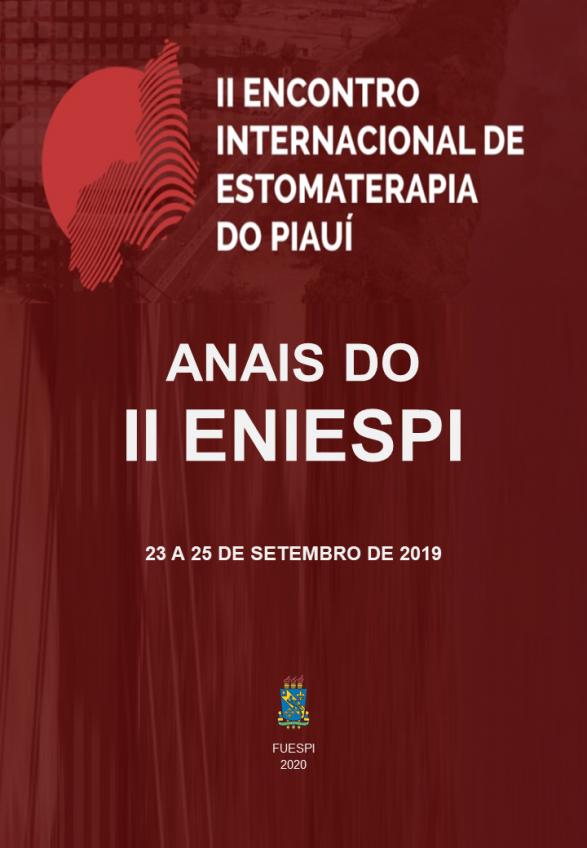 Capa para ANAIS DO  II ENCONTRO INTERNACIONAL DE ESTOMATERAPIA DO PIAUÍ