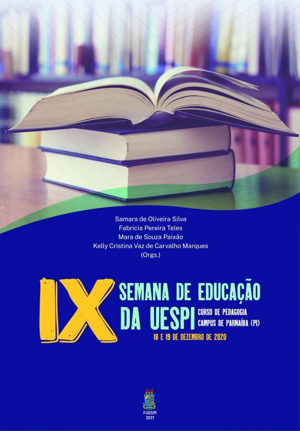 Capa para Anais da IX SEMANA DE EDUCAÇÃO DA UESPI: CURSO DE PEDAGOGIA CAMPUS DE PARNAÍBA (PI)