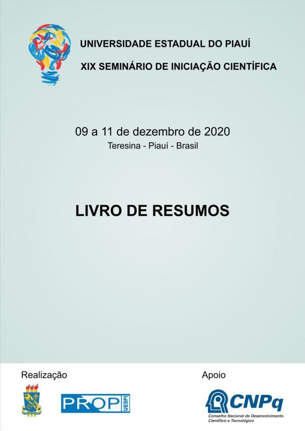 Capa para Livro de Resumos do XIX Seminário de Iniciação Científica - SIC
