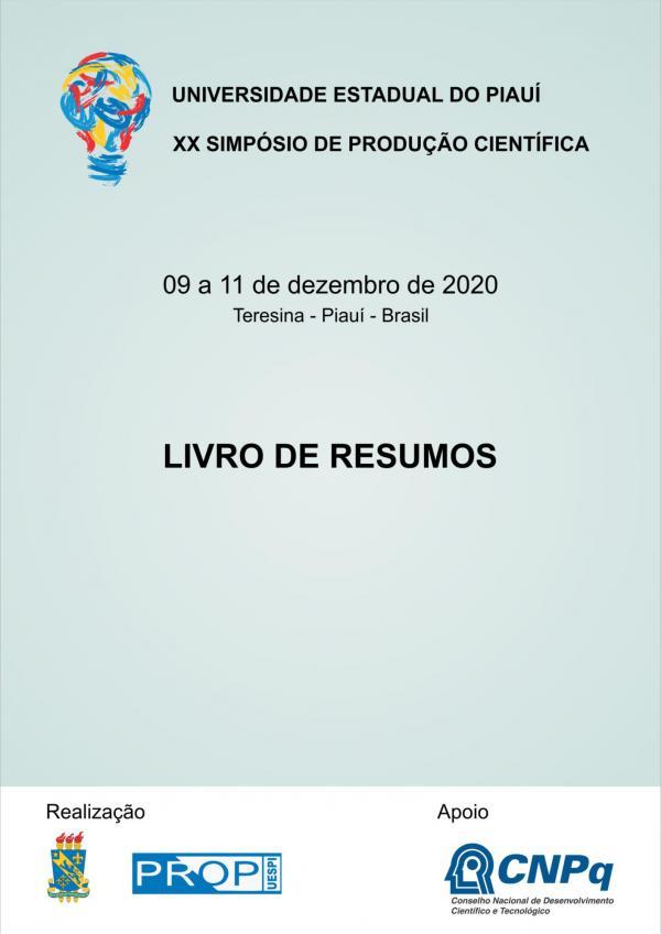 Capa para Livro de Resumos do XX Seminário de Produção Científica - SPC