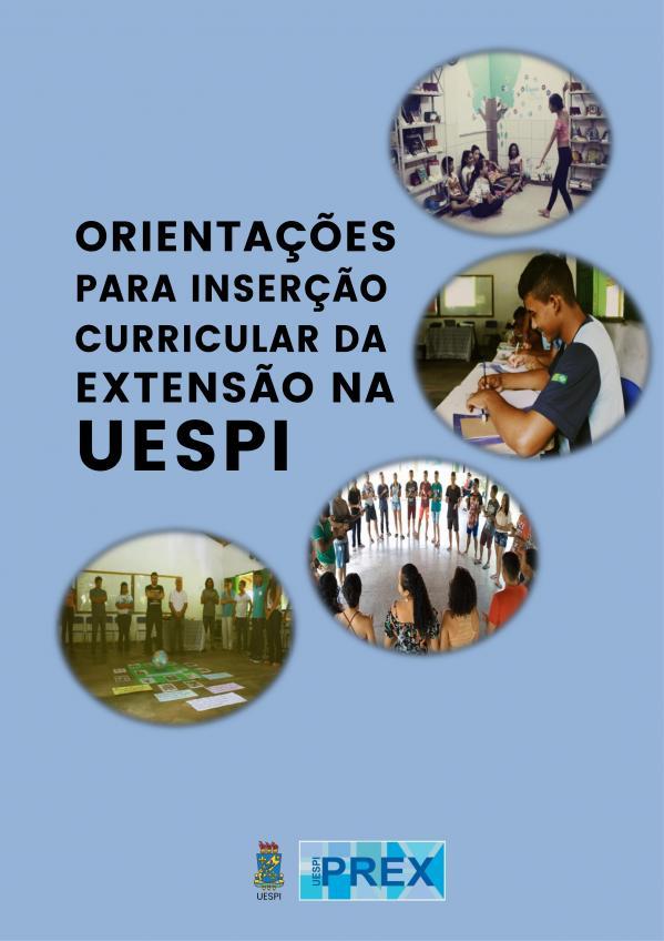 Capa para Orientações para Inserção Curricular da Extensão na UESPI